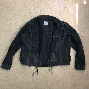 American Eagle black jean jacket